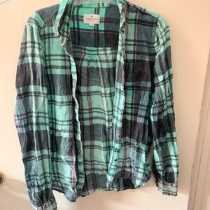 💎3/$20 American Eagle thin plaid shirt